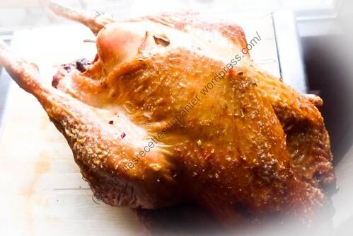Rôti de dinde sauce jus de pomme / Roasted Turkey with Apple Juice Sauce