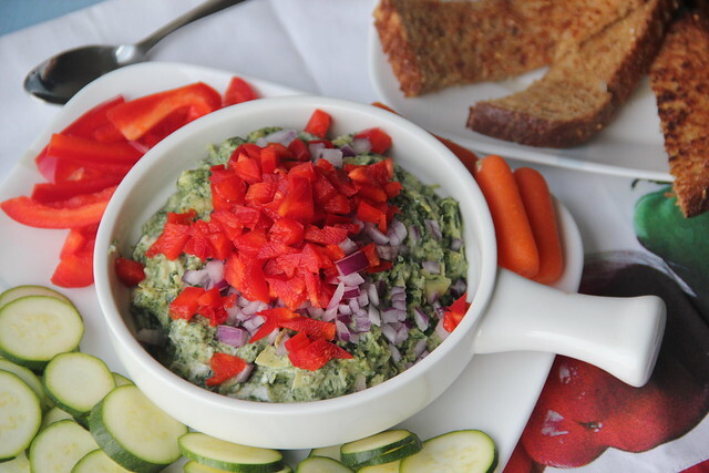 Healthy Veggie Loaded Artichoke Dip