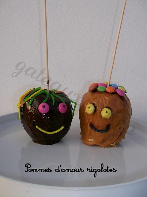 Pommes d'amour rigolotes