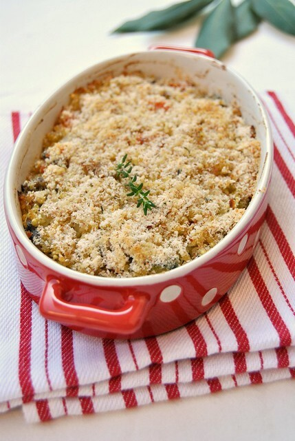 Millet Au Gratin with Vegetables and Mushrooms