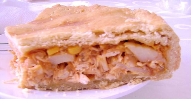 empadão de frango simples com gordura vegetal