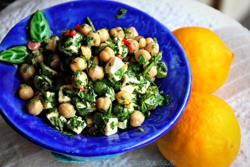 Chickpea, Feta & Coriander Salad