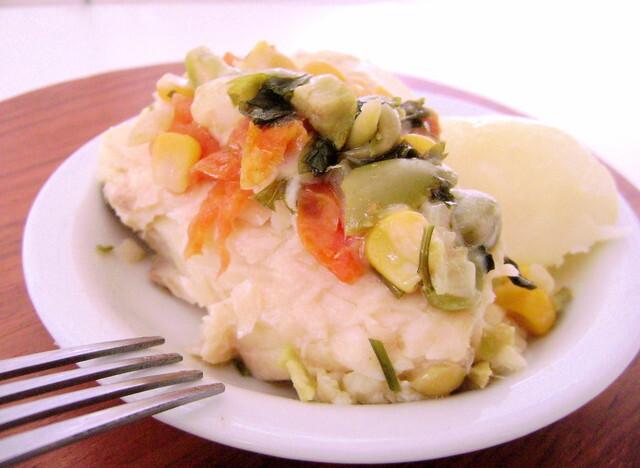 Peixe Assado com Legumes