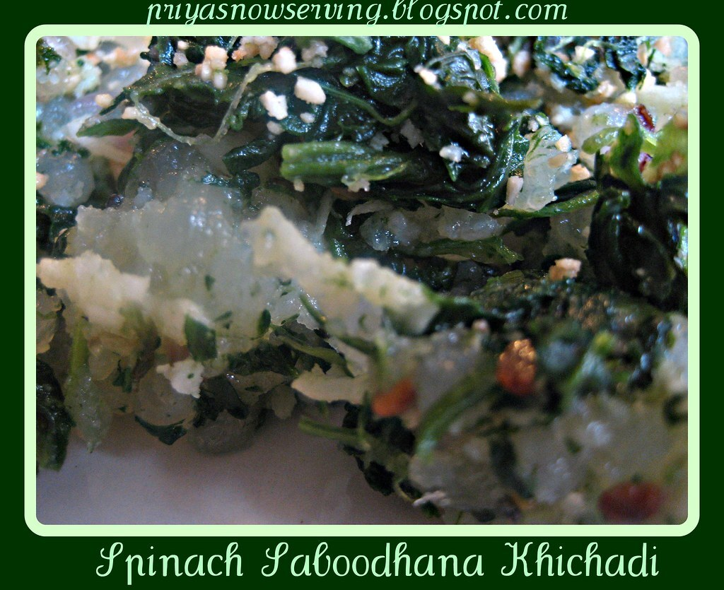 Spinach Saboodhana Kichdi & Announcements