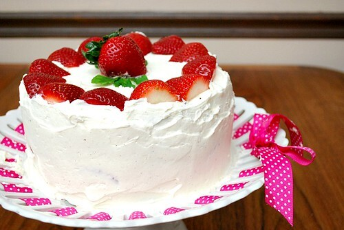 Chocolate Strawberry Cream {Birthday!} Cake