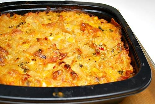 Poblano Chicken & Corn Lasagna