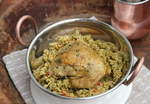 Chicken with Coriander & Spinach Rice