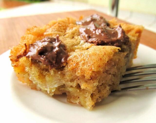 Torta Facílima de Banana e Pedaços de Chocolate