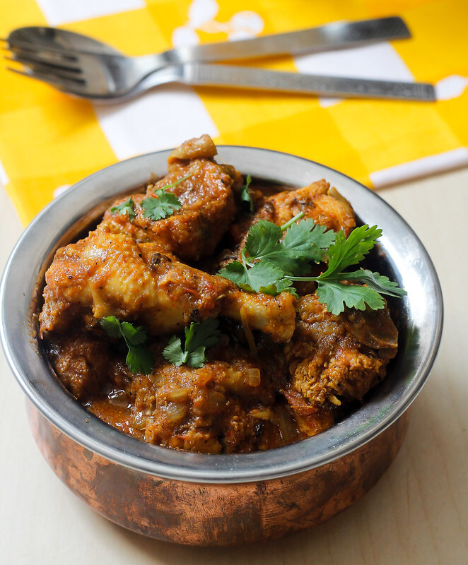 south indian chicken gravy and rice