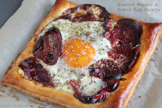 Roasted Pepper & Baked Egg Galette aka Simply Sensational Lunch for One