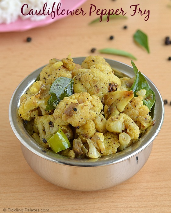 Cauliflower Pepper Fry Recipe | Chettinad Cauliflower Milagu Pirattal | Gobi Pepper Fry