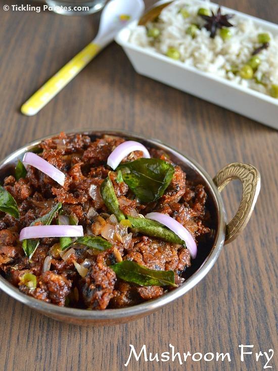 Mushroom Vepudu – Mushroom Fry Recipe | Easy Mushroom Recipes