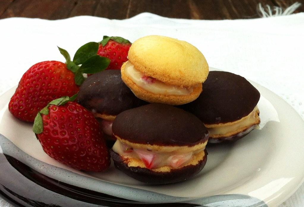 Puff de Morango e Chocolate - 5 ANOS DE BLOG!!