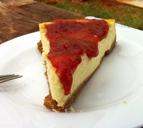 Cheesecake (cream cheese+iogurte+leite condensado) com Calda de Goiabada