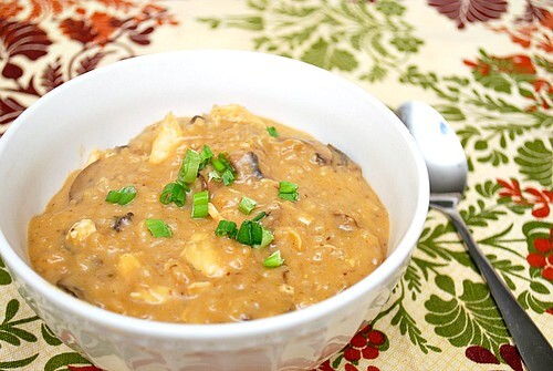 Cream of Mushroom Soup with Chicken & Rice