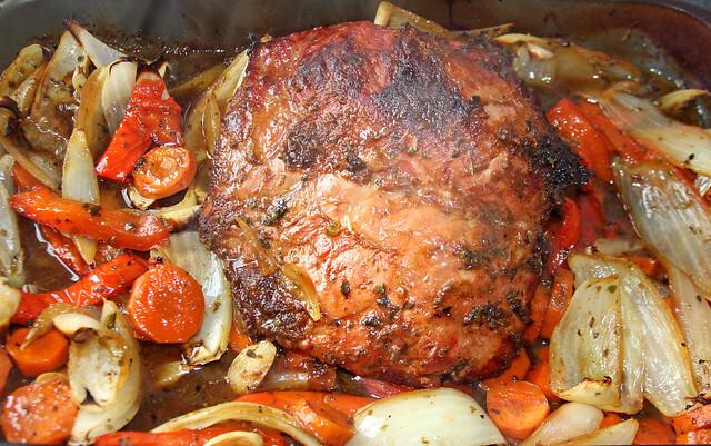 Carne con Vegetales al Horno