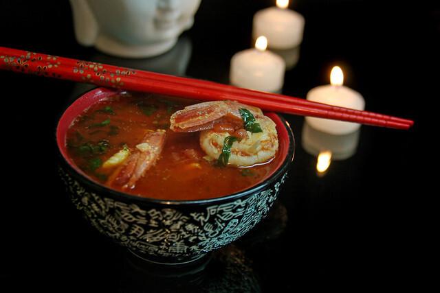 Sopa Thai de Langostinos
