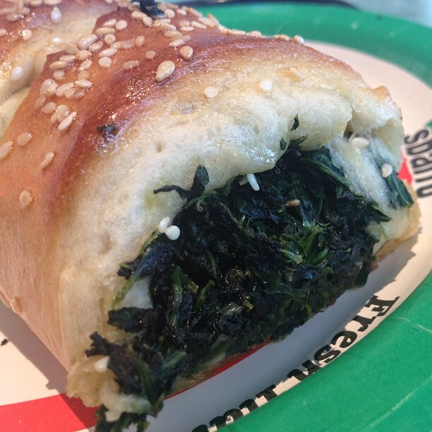 Sbarro Spinach and Cheese Stomboli