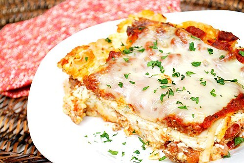 Homecoming Meat Lasagna