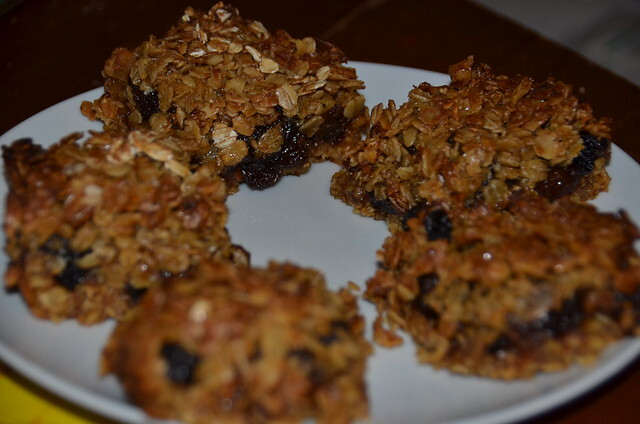 flapjack with mincemeat