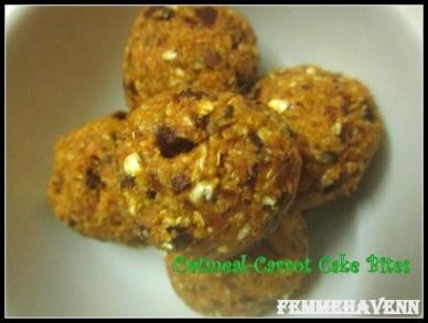 Oatmeal-Carrot Cake Bites