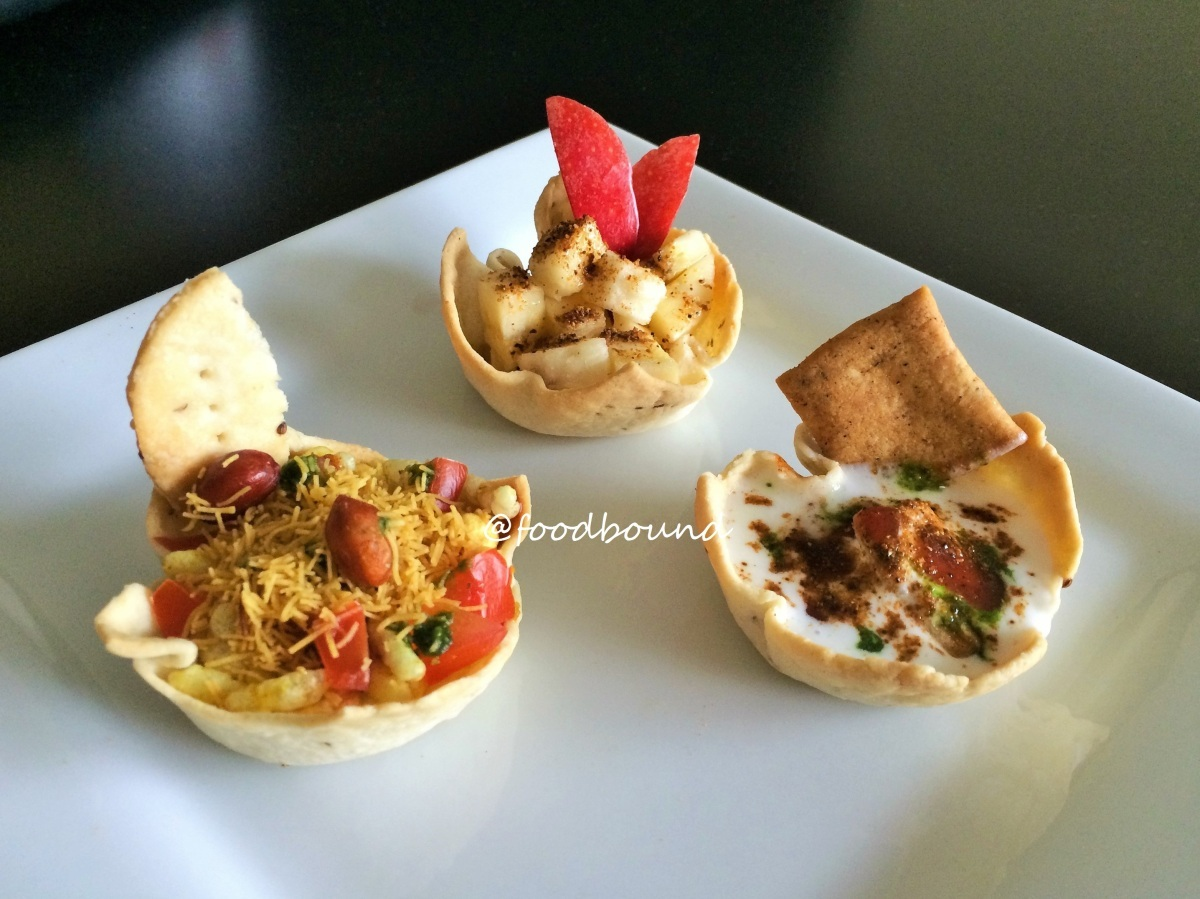 Baked, Bite-Sized Savory – Sweet / Chaat Baskets