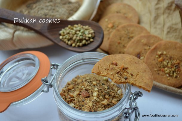 Egyptian Dukkah spice mix & cookies