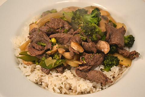 Chop Suey med oksekød