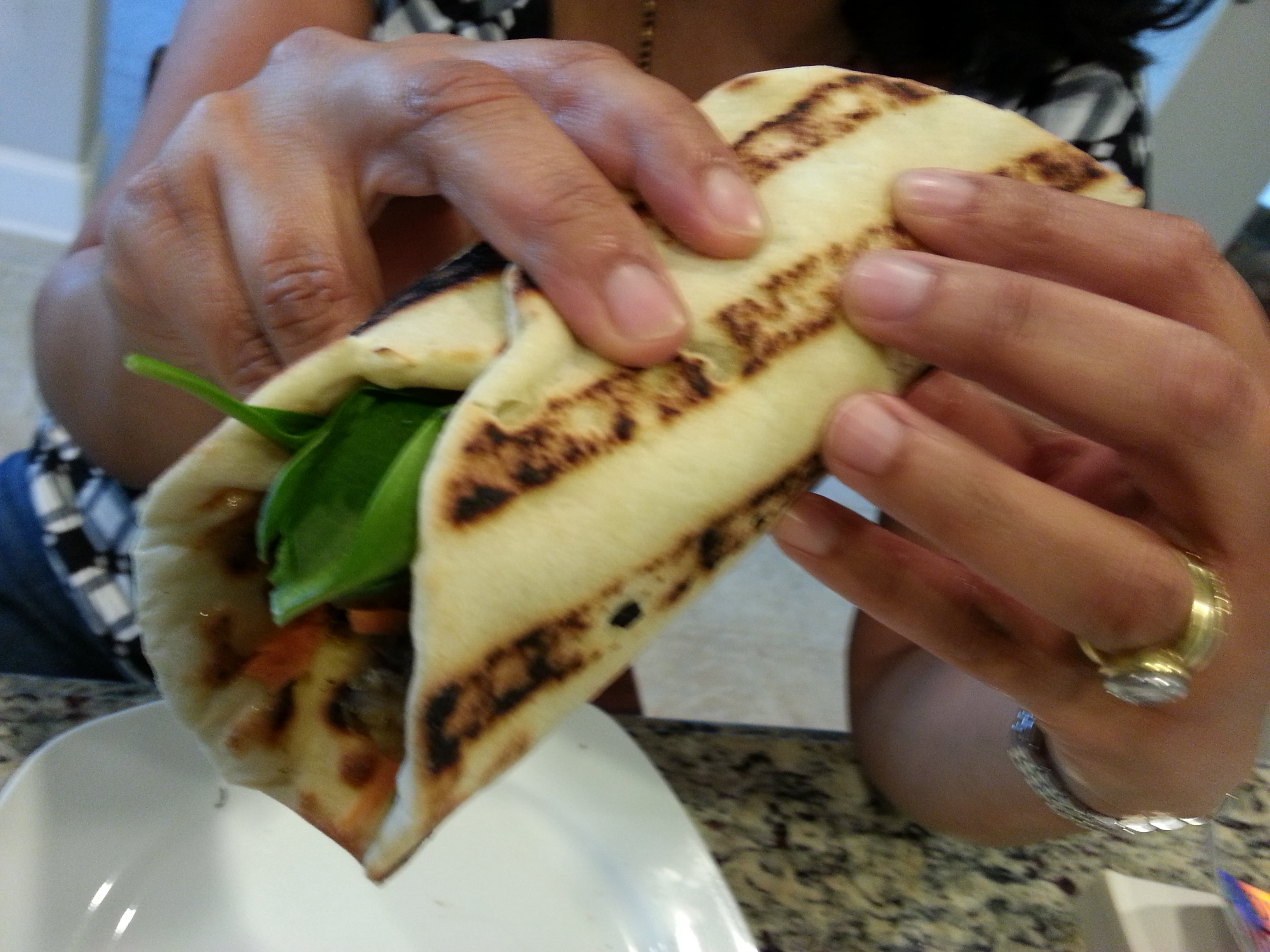 Naan Wraps – A wonderful lunch option