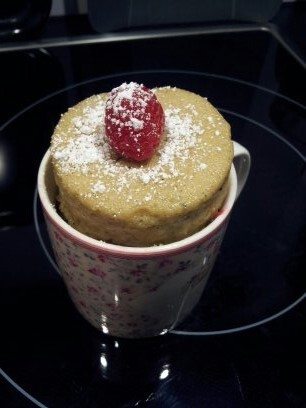 mug cake light micro onde