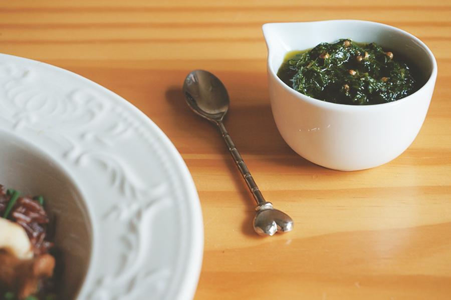 cheiro verde faz o arroz ficar verde