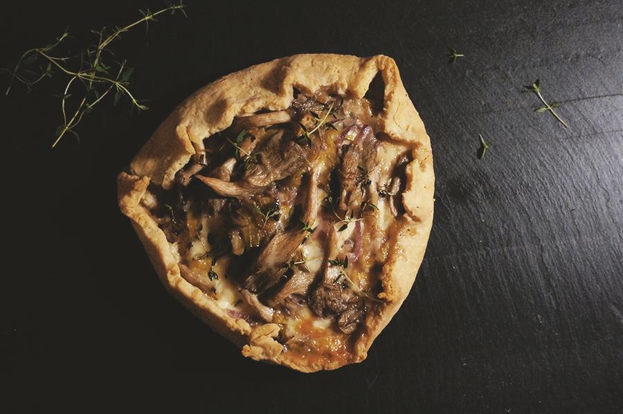 galette de cogumelos com alho-poró e tomilho + novidades