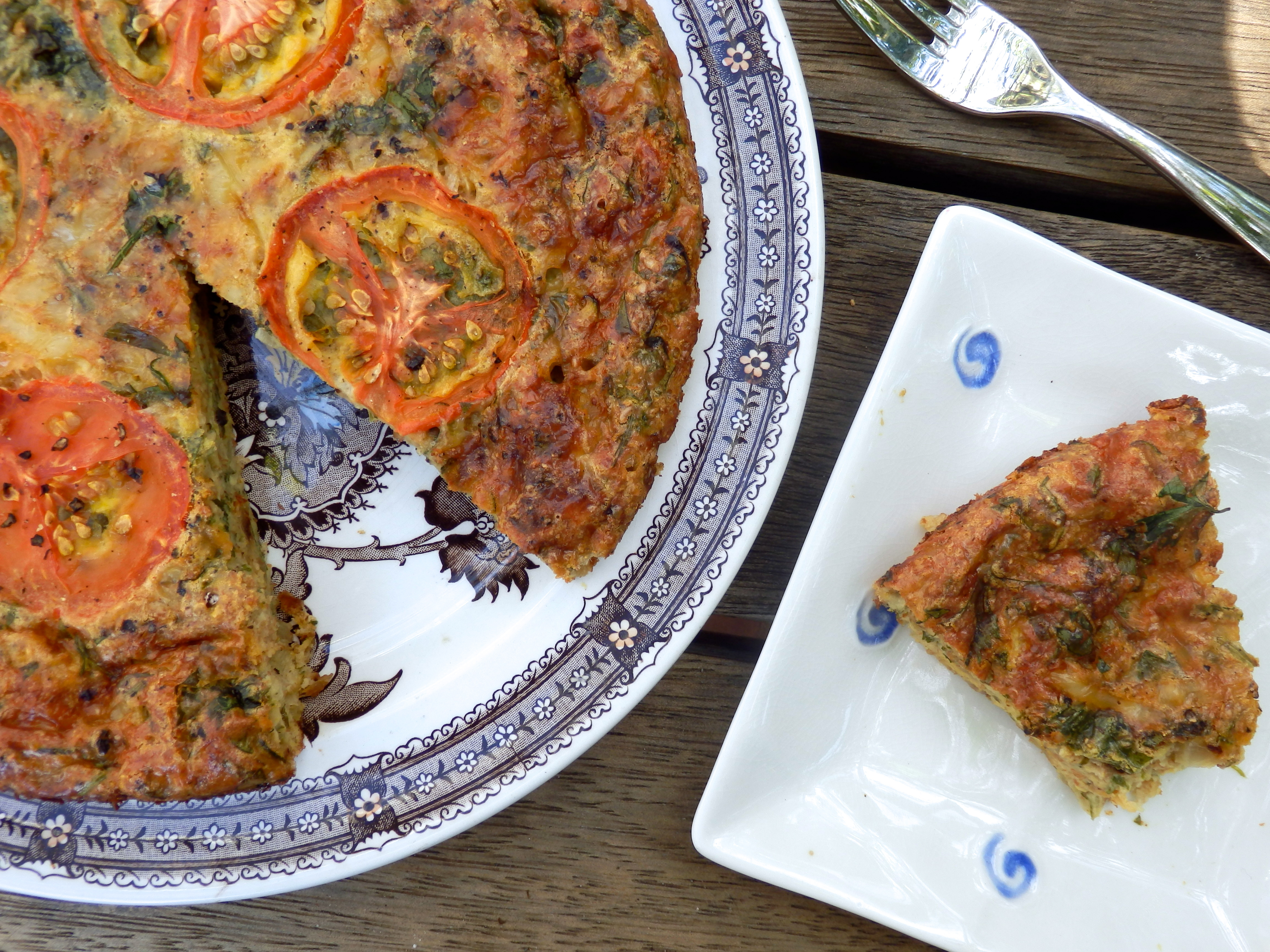 zucchini self crusting quiche