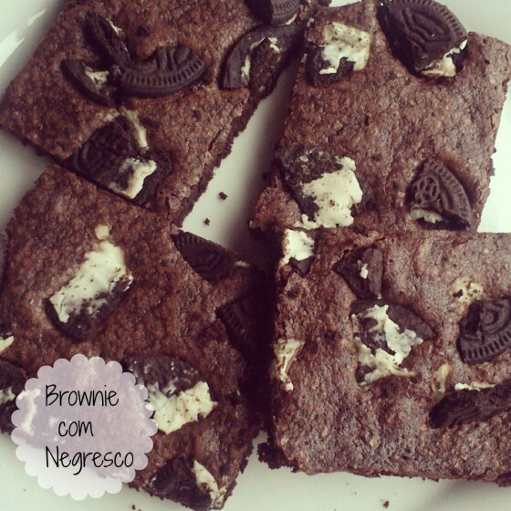 Brownie com negresco