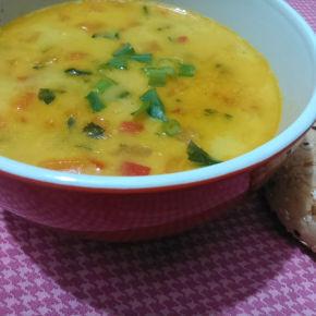 Sopa Indiana de Grão de Bico