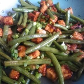 Stir Fry de Tofu com Vagem Francesa