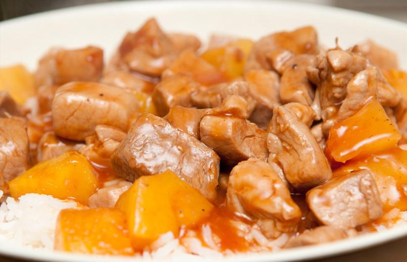 La receta Olímpica: Pollo agridulce en salsa de piña