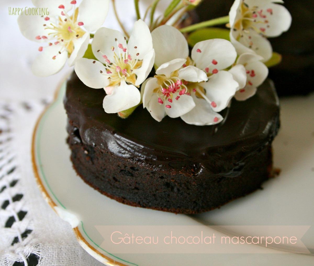 Gateau chocolat mascarpone