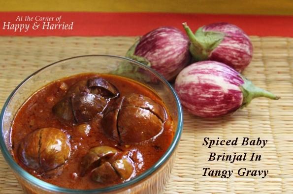 Ennai Kathirikkai – Spiced Baby Brinjal/Eggplant In Tangy Gravy