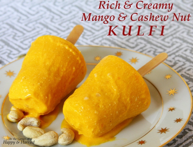 Mango And Cashew Nut Kulfi (Indian Frozen Milk Dessert)