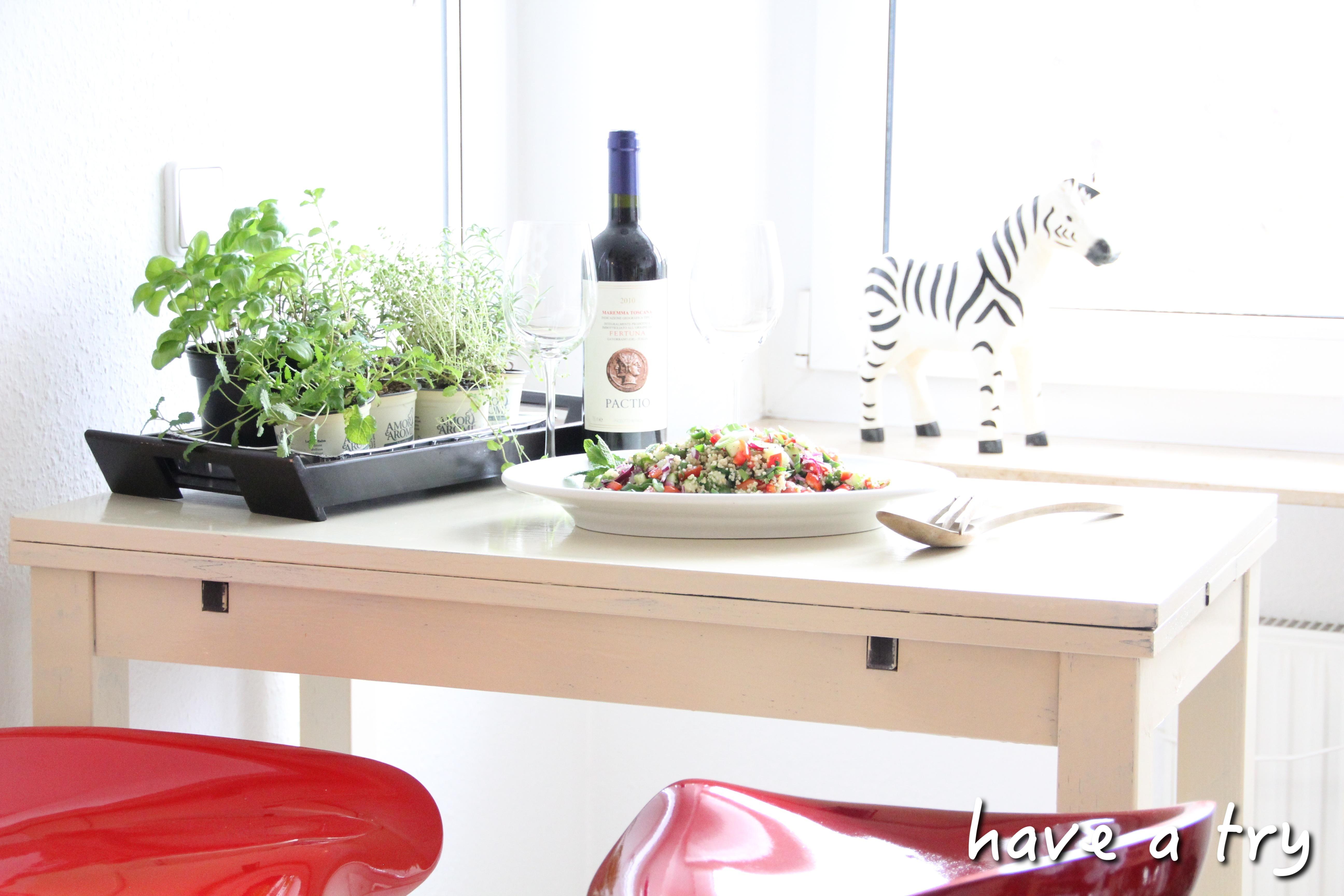 Couscous mit Minze und Petersilie (vegan)