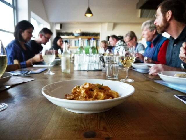 Squid & Potato Stew at Rick Stein's Seafood School, Padstow