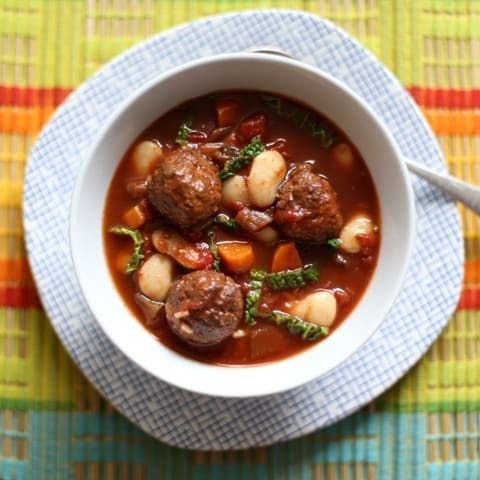 Slow Cooker Spiced Meatball Stew