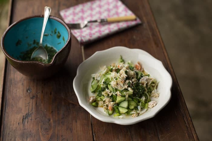 Crab Salad with a Fresh Coriander Dressing