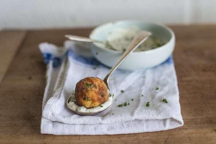Crispy Fish Balls with Easy Tartare Sauce