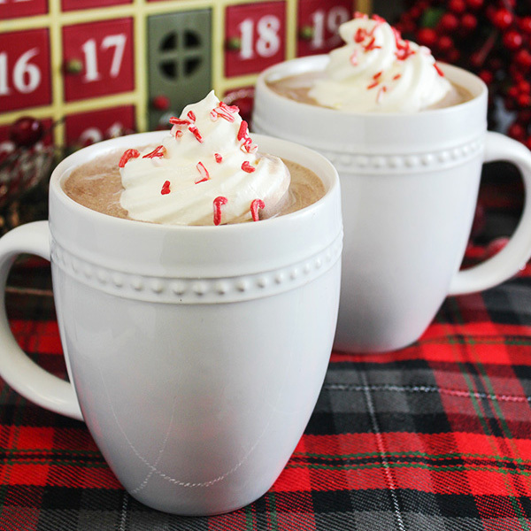 Peppermint & Whipped Vodka Hot Chocolate Recipe
