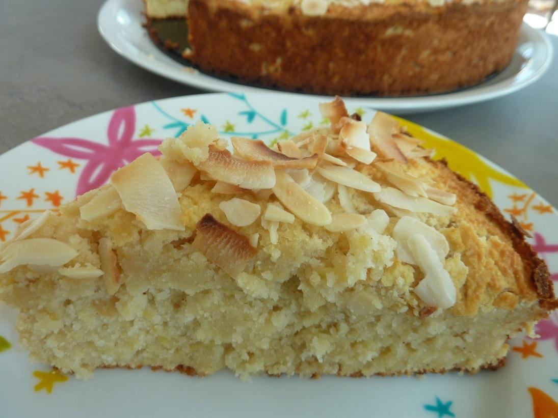 Jablková torta z kokosovej, ryžovej a amarantovej múky – bezlepková