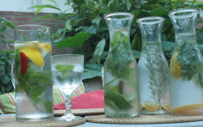 Água Aromatizada com hortelã