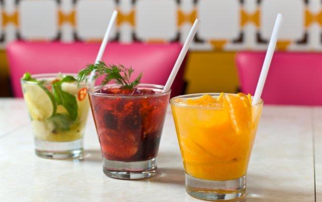 de coquetel de frutas sem alcool cremoso