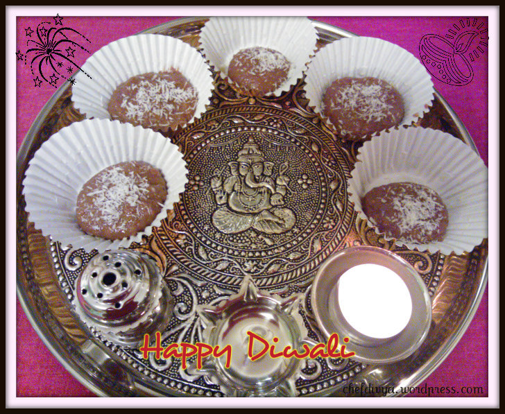 Chocolate Peda (Chocolate Fudge)-Diwali recipe